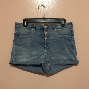 This is a short short and is high waisted.